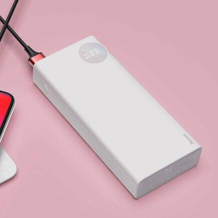 Mulight power banka 20000 mAh se zobrazením napětí nabíjení PD3.0 QC3.0 bílá (PPALL-MY02)
