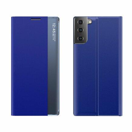 New Sleep Case pouzdro s klapkou s funkcí podstavce Samsung Galaxy S21 5G modré