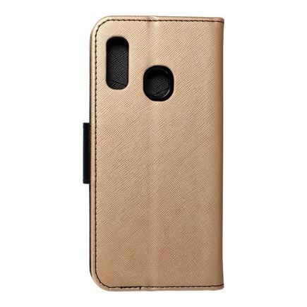 Pouzdro Fancy Book Samsung A20e černé/zlaté