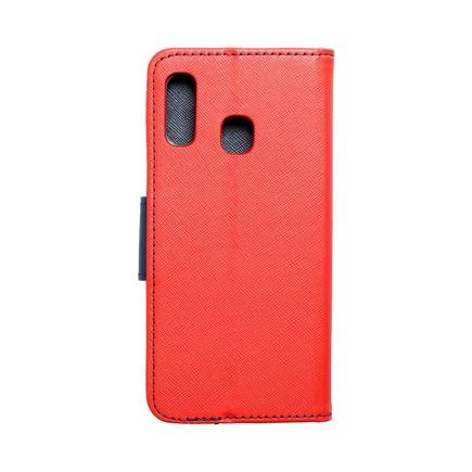 Pouzdro Fancy Book Samsung A20e červené/tmavě modré