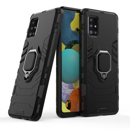 Ring Armor pancéřové hybridní pouzdro + magnetický úchyt Samsung Galaxy A51 5G černé
