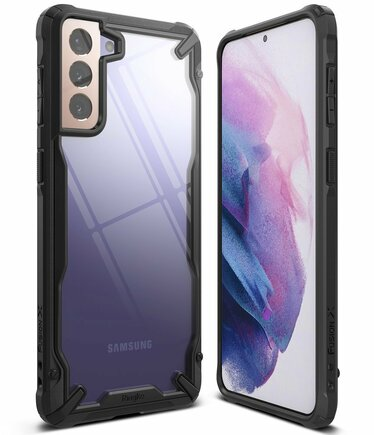 Ringke Fusion X pancéřové pouzdro s rámem Samsung Galaxy S21 5G černé (FUSG0066)