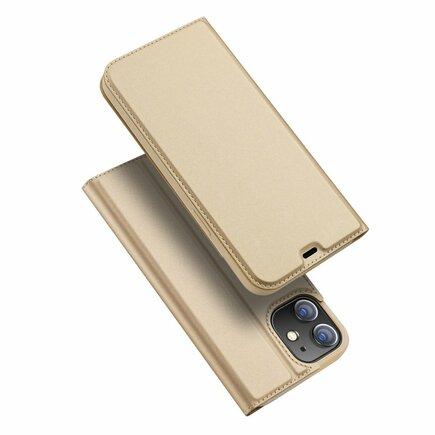 Skin Pro pouzdro s klapkou iPhone 12 mini zlaté