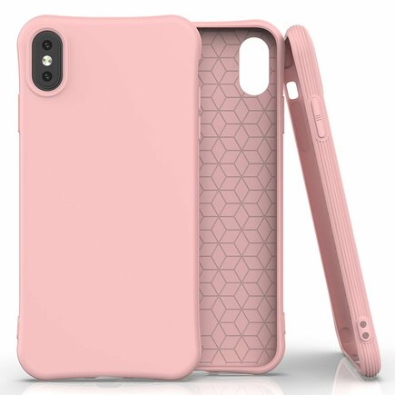 Soft Color Case elastické gelové pouzdro iPhone XS Max růžové