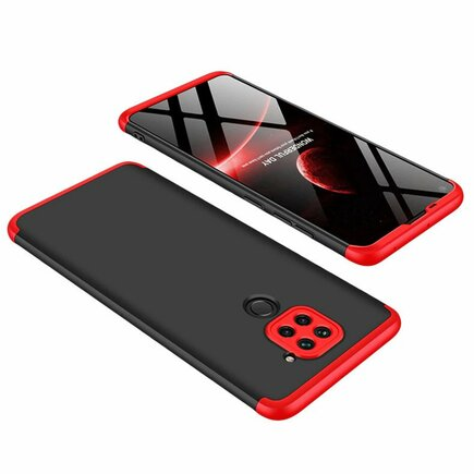 360 Protection Case pouzdro na přední i zadní část telefonu Xiaomi Redmi 10X 4G / Xiaomi Redmi Note 9 černo/červené