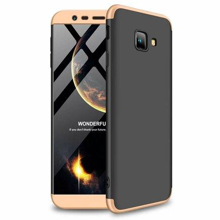 360 Protection pouzdro na přední i zadní část telefonu Samsung Galaxy J4 Plus 2018 J415 černo-zlaté