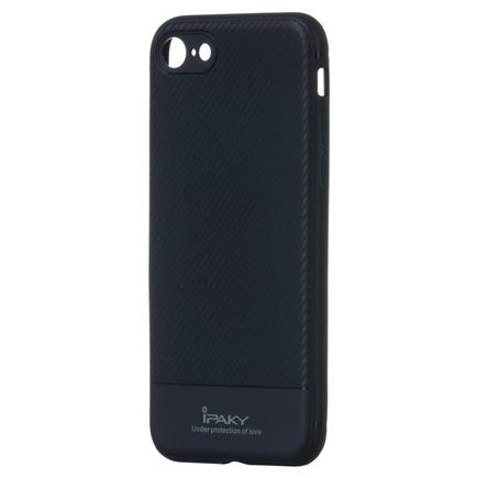 Carbon Fiber elastické pouzdro iPhone 8 / 7 modré