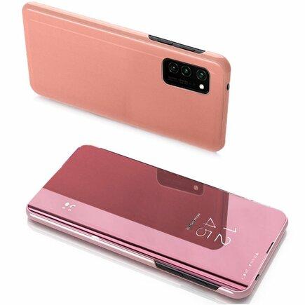 Clear View Case pouzdro s klapkou Samsung Galaxy Note 20 Ultra růžové