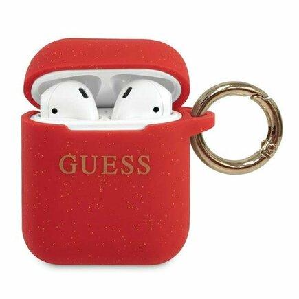 Guess Silikonové Pouzdro pro Airpods 1/2 červené