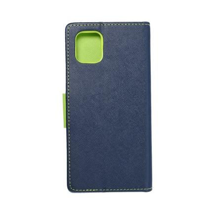 Pouzdro Fancy Book Samsung Note 10 Lite tmavě modré/limetkové