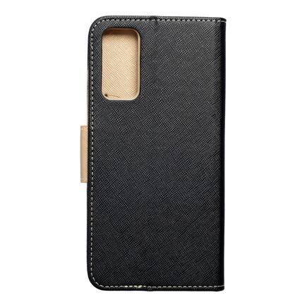 Pouzdro Fancy Book Samsung S20 FE / S20 FE 5G černé/zlaté