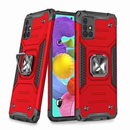 Wozinsky Ring Armor pancéřové hybridní pouzdro + magnetický úchyt Samsung Galaxy A51 5G červené