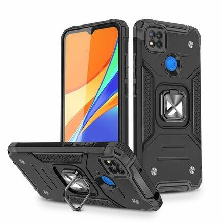 Wozinsky Ring Armor pancéřové hybridní pouzdro + magnetický úchyt Xiaomi Redmi 9C černé