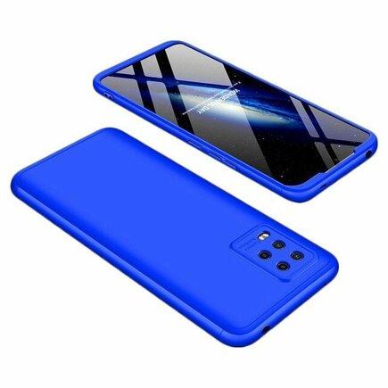 360 Protection Case pouzdro na přední i zadní část telefonu Xiaomi Mi Note 10 Lite modré