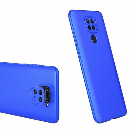 360 Protection Case pouzdro na přední i zadní část telefonu Xiaomi Redmi 10X 4G / Xiaomi Redmi Note 9 modré