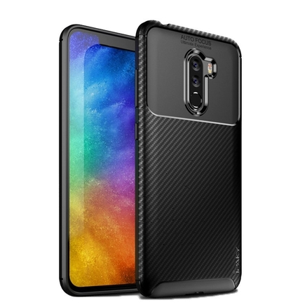 Carbon Fiber elastické pouzdro Xiaomi Pocophone F1 černé