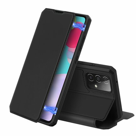 DUX DUCIS Skin X pouzdro s klapkou Samsung Galaxy A52 5G / A52 4G černé