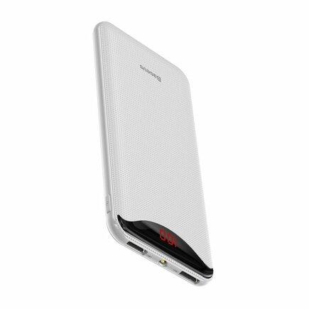 Gentleman power banka 10000mAh 2x USB 2.1A bílá (PPLN-02)
