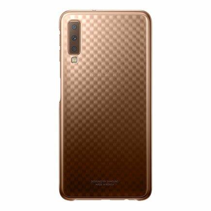 Gradation Cover pevné pouzdro s gradientem Samsung Galaxy A7 2018 A750 zlaté (EF-AA750CFEGWW)