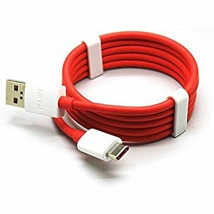 One Plus 3 3T Datový kabel originální Typu-C bílo-červený (Bulk)