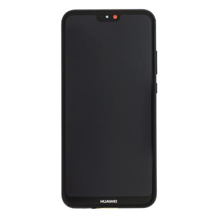 P20 Lite LCD Display + Dotyková Deska + Přední Kryt černý