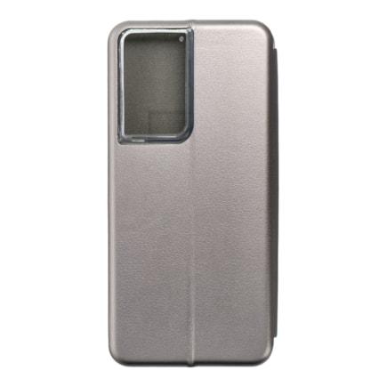 Pouzdro Book Forcell Elegance Samsung S21 Ultra šedé