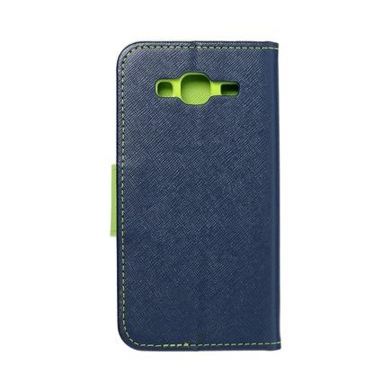 Pouzdro Fancy Book Samsung Galaxy J3/J3 2016 tmavě modré/limetkové