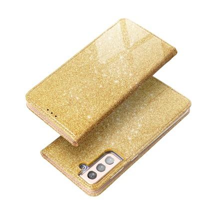Pouzdro Forcell Shining Book iPhone 13 Mini zlaté