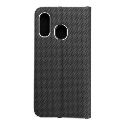 Pouzdro Luna Carbon pro Samsung Galaxy A40 černé