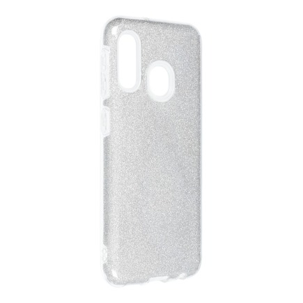 Pouzdro Shining Samsung Galaxy A20E stříbrné