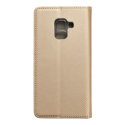 Pouzdro Smart Case book Samsung Galaxy A5 2018 / A8 2018 zlaté