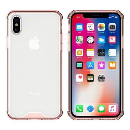 Shockproof gelové zesílené pouzdro iPhone X růžové