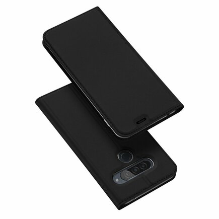 Skin Pro pouzdro s klapkou LG G8s ThinQ černé