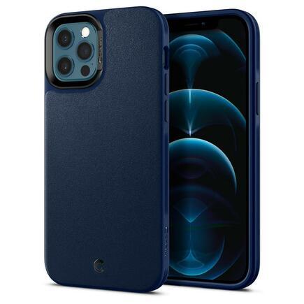 Spigen Ciel Leather Brick iPhone 12 / 12 Pro tmavě modré