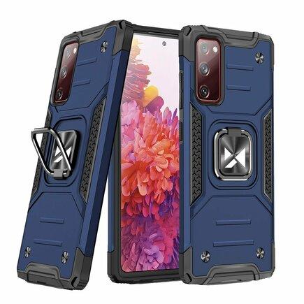 Wozinsky Ring Armor pancéřové hybridní pouzdro + magnetický úchyt Samsung Galaxy S20 FE 5G modré