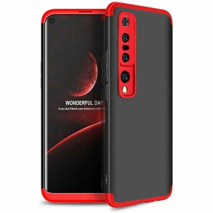 360 Protection Case pouzdro na přední i zadní část telefonu Xiaomi Mi 10 černo/červené