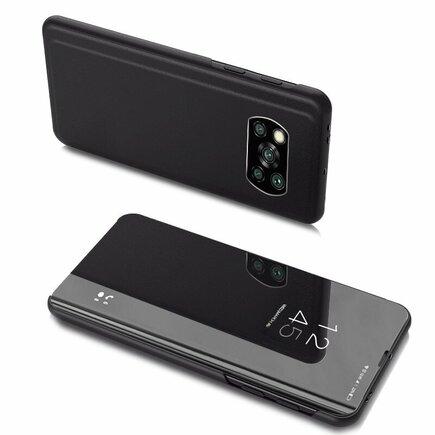 Clear View Case pouzdro s klapkou Xiaomi Poco X3 NFC černé