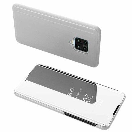 Clear View Case pouzdro s klapkou Xiaomi Redmi 10X 4G / Xiaomi Redmi Note 9 stříbrné