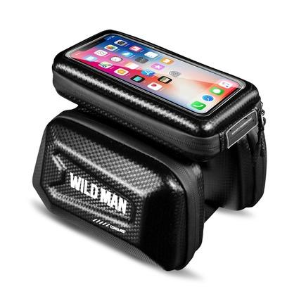 """Cyklistický úchyt / taška s pouzdrem na rám se zipem WILDMAN E6S 1,2L 4"""" - 7"""""""