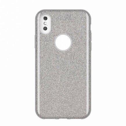 Glitter Case lesklé pouzdro s brokátem Huawei Mate 30 Lite stříbrné