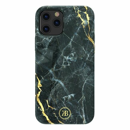 Kingxbar Marble Series elegantní pouzdro s potiskem mramor iPhone 12 Mini černé
