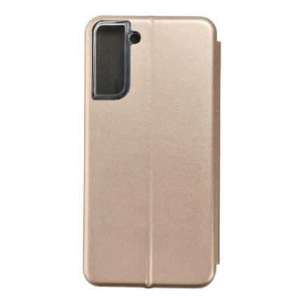 Pouzdro Book Forcell Elegance Samsung S21 Plus zlaté