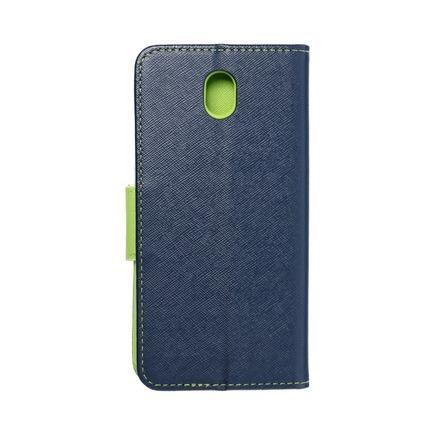 Pouzdro Fancy Book Samsung Galaxy J7 2017 tmavě modré/limetkové