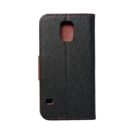 Pouzdro Fancy Book Samsung Galaxy S5 (G900) černé/hnědé