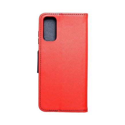 Pouzdro Fancy Book Samsung S21 Ultra červené/tmavě modré