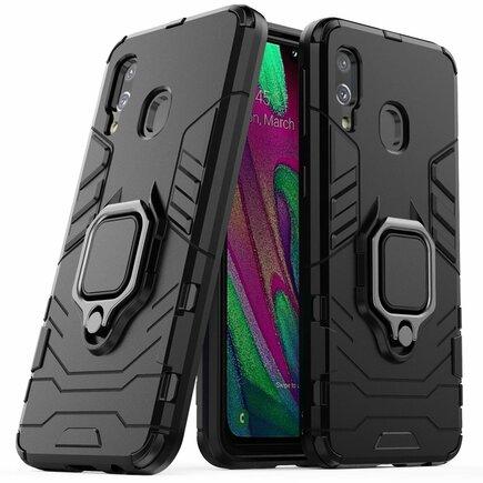 Ring Armor pancéřové hybridní pouzdro + magnetický úchyt Samsung Galaxy A40 černé