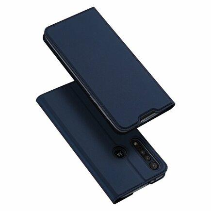 Skin Pro pouzdro s klapkou Motorola One Macro modré