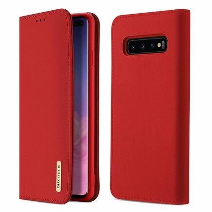 Wish kožené pouzdro Samsung Galaxy S10 Plus červené