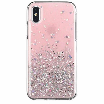 Wozinsky Star Glitter lesklé pouzdro s brokátem Samsung Galaxy A02s růžové