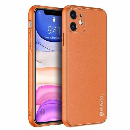 Yolo elegantní pouzdro z eko kůže iPhone 12 mini oranžové